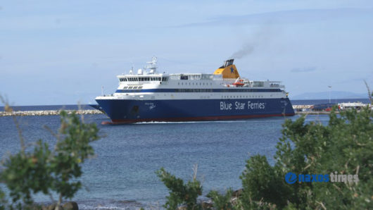 Το Blue Star Paros δεν έδεσε στο λιμάνι της Σχοινούσας