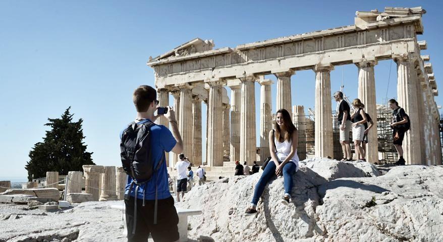 touristes akropoli