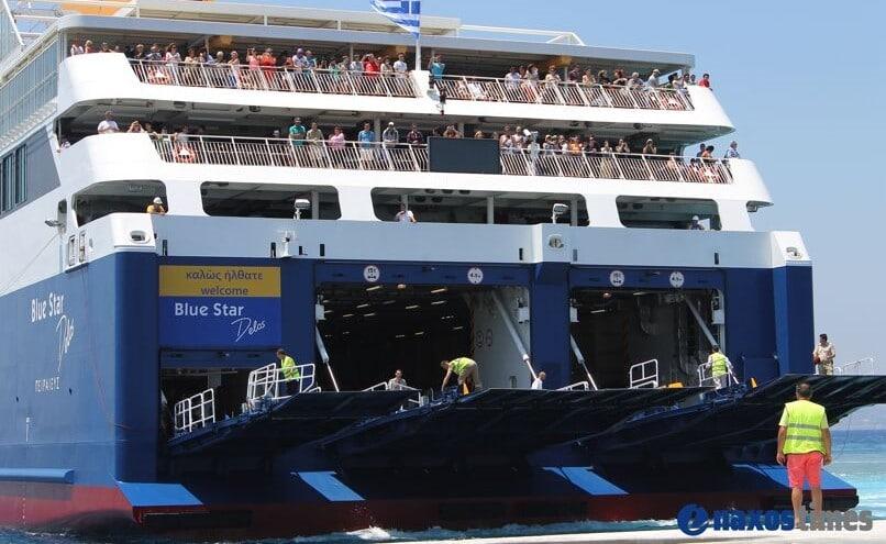 επιβάτης του Blue Star Delos