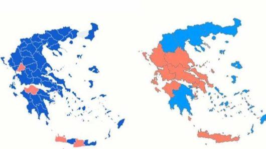 O νέος χάρτης της επικράτειας μετά τις ευρωεκλογές