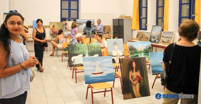 Έκθεση ζωγραφικής Ναξίων καλλιτεχνών