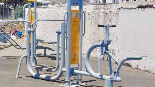 Μύκονος: 'Οργανα άθλησης υπαίθριου χώρου στο στάδιο του Κόρφου