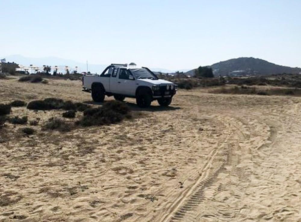 αμμοθίνες πάρκινγκ