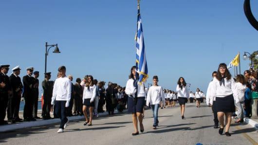 Το πρόγραμμα εορτασμού της 28ης Οκτωβρίου στη Νάξο – Κανονικά θα παρελάσουν οι μαθητές