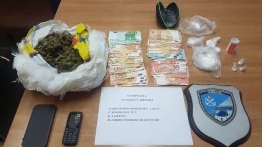Σύλληψη ημεδαπού για κατοχή κάνναβης και κοκαΐνης στη Θήρα