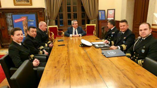 Τον νέο Αρχηγό του Λιμενικού Σώματος υποδέχθηκε ο Γιώργος Χατζημάρκος
