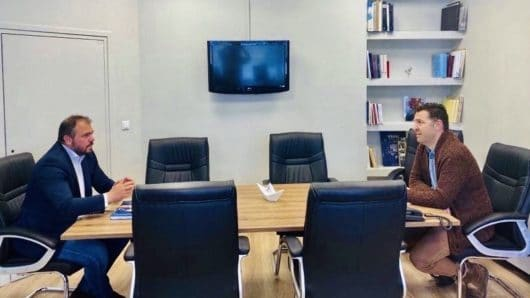 Συνεργασία του Φ. Φόρτωμα με τον Δήμαρχο Τήνου και κοινή επίσκεψη στο Κέντρο Υγείας του νησιού
