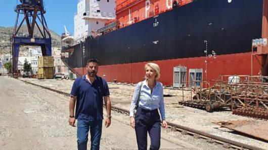 Στη Σύρο η βουλευτής Κυκλάδων της ΝΔ Κατερίνα Μονογυιού