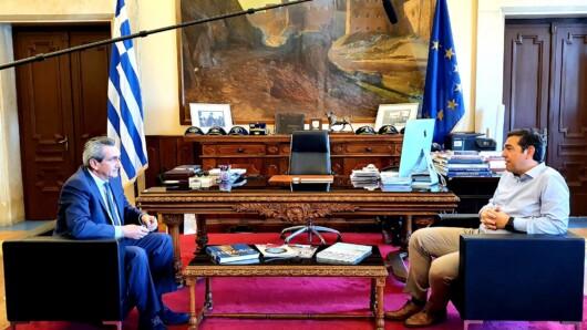 Συνάντηση Περιφερειάρχη Νοτίου Αιγαίου Γιώργο Χατζημάρκο με τον τέως Πρωθυπουργό Αλέξη Τσίπρα