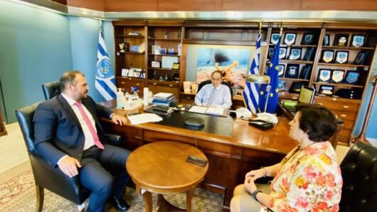 Συνάντηση του Φ. Φόρτωμα με τον Υπουργό Ναυτιλίας για το Μεταφορικό Ισοδύναμο