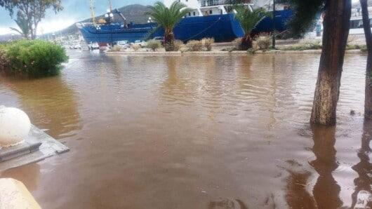 Σε κατάσταση έκτακτης ανάγκης η Λέρος – «Πνίγηκε» από τις ισχυρές βροχές