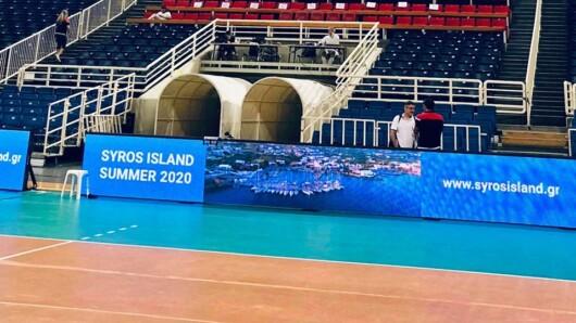 Προβολή της Σύρου μέσω του πρωταθλήματος της Volley League