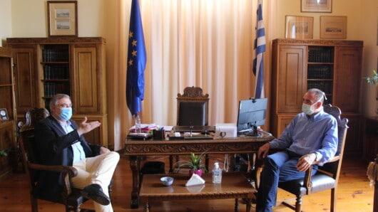 Συνάντηση Δημάρχου Σύρου-Ερμούπολης με αντιπροσωπεία του ΕΟΔΥ
