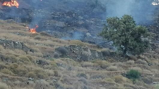 Σβήστηκε η πυρκαγιά στην Κέα – Διενεργείται έρευνα για τα αίτια που την προκάλεσαν