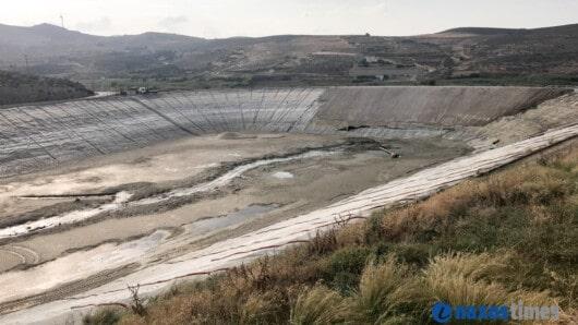 Νάξος: Σε εξέλιξη οι εργασίες για την αποκατάσταση – στεγανοποίηση τμήματος της λιμνοδεξαμενής Εγγαρών