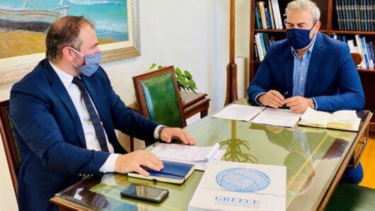 Συνάντηση εργασίας του Φ. Φόρτωμα με τον Γενικό Γραμματέα του ΕΟΤ