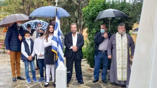 Το Γλινάδο Νάξου παρά τη βροχή τίμησε την 28η Οκτωβρίου (φώτος)