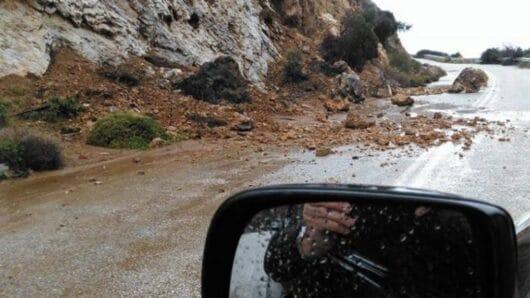 Κατολισθήσεις στο ορεινό επαρχιακό δίκτυο Νάξου προκάλεσε ο σεισμός