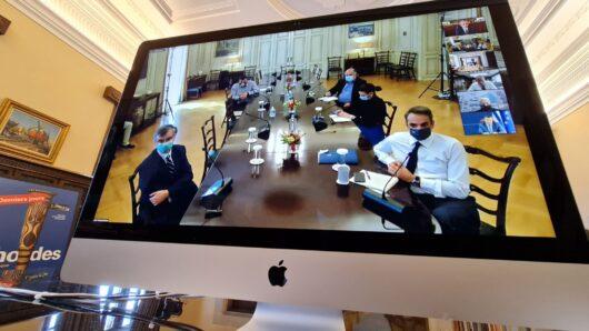 Σε τηλεδιάσκεψη υπό τον Πρωθυπουργό ο Περιφερειάρχης για την διαχείριση της πανδημίας
