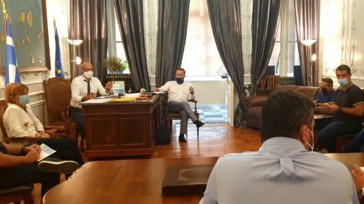 Τεχνική σύσκεψη στο γραφείο του Αντιπεριφερειάρχη Κυκλάδων για τα έργα του Δήμου Κύθνου