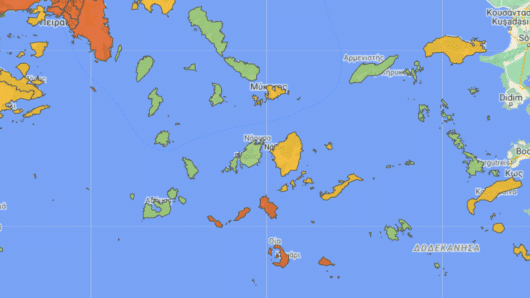 Ανά νησί και όχι ανά Περιφερειακή Ενότητα από την Τετάρτη το επίπεδο συναγερμού
