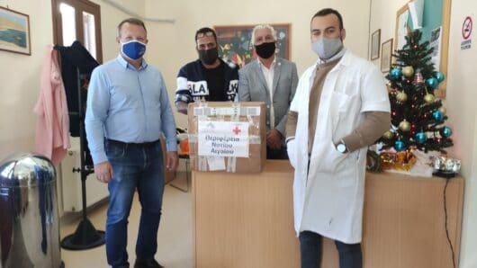Παράδοση rapid tests από την Περιφέρεια Νοτίου Αιγαίου στο Καστελλόριζο
