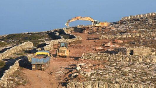 Διακοπή των εργασιών στον αιολικό σταθμό στο Φραγκάκι της Άνδρου
