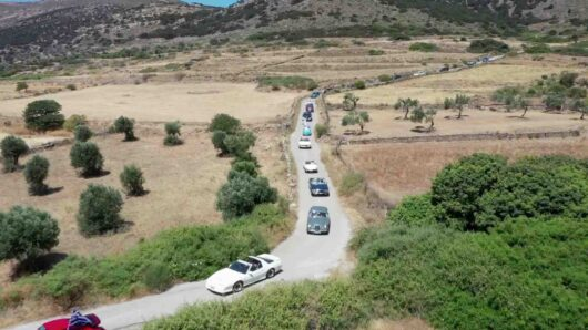Ταξίδι στη Νάξο με το ράλι ιστορικών αυτοκινήτων του 4ου Food Experience Graviera Naxos 2021 (video)