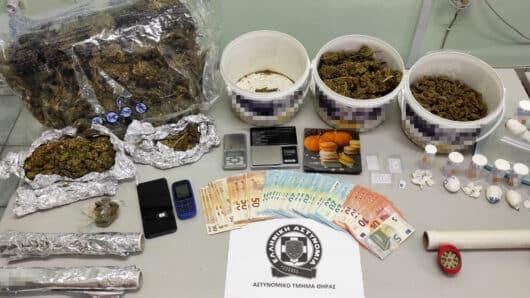 Σαντορίνη: Συνελήφθη μη νόμιμος αλλοδαπός για διακίνηση κοκαΐνης και κάνναβης