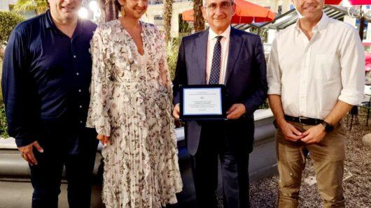 Τιμητική διάκριση του Γιώργου Χατζημάρκου από τους τουριστικούς πράκτορες της Βορείου Ελλάδος
