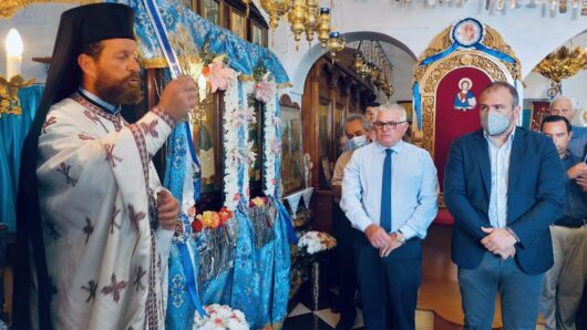 Στη Θηρασιά για τον εορτασμό του Γενέθλιου της Θεοτόκου ο Φίλιππος Φόρτωμας