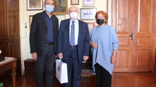 Συνάντηση δημάρχου Σύρου-Ερμούπολης κ. Λειβαδάρα με τον Γ.Γ. του Υπουργείου Παιδείας