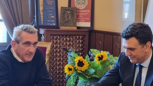 Στη Ρόδο ο Υπουργός Τουρισμού Βασίλης Κικίλιας – Συνάντηση εργασίας με τον Γ. Χατζημάρκο